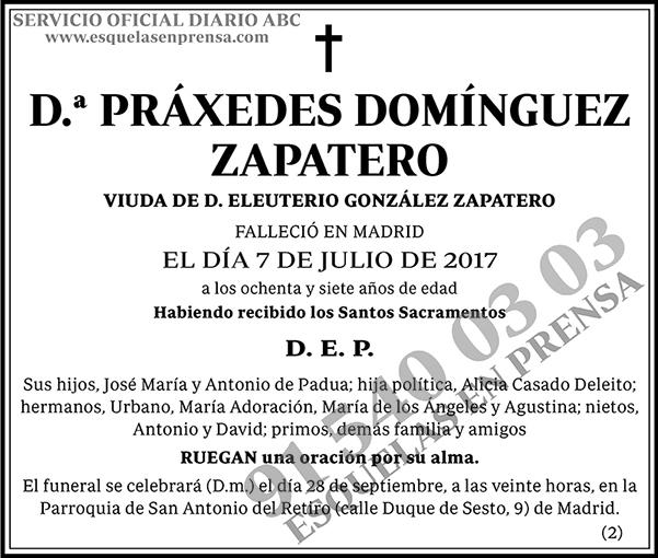 Práxedes Domínguez Zapatero